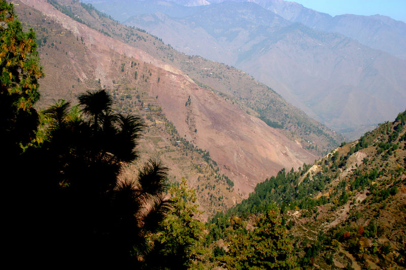 A mountainside sheared away and buried several villages of about 200 people.
