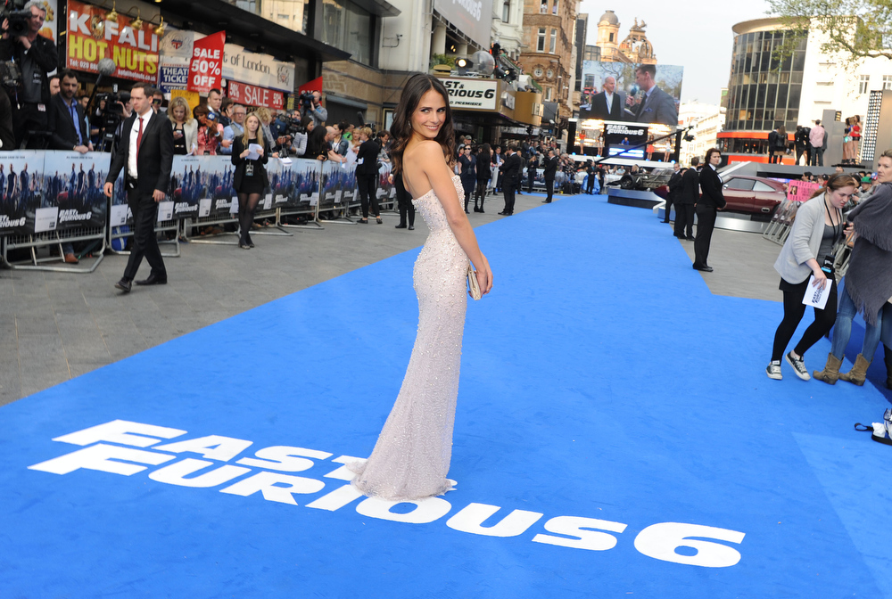 ". Actress Jordana Brewster attends the ""Fast & Furious 6\"" World Premiere at The Empire, Leicester Square on May 7, 2013 in London, England.  (Photo by Stuart C. Wilson/Getty Images for Universal Pictures)"