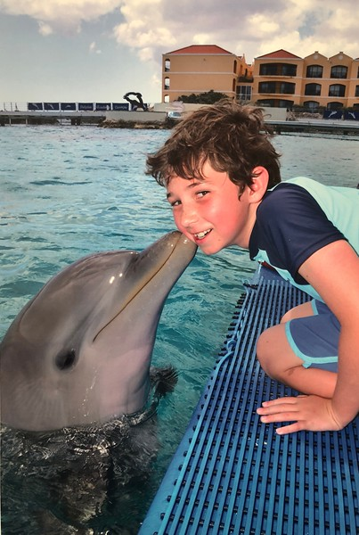 Alex favorite thing at the aquarium was the dolphin show and getting to kiss a dolphin!