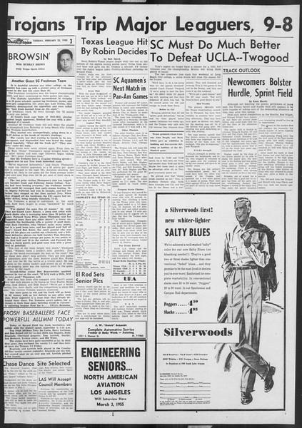 Daily Trojan, Vol. 46, No. 82, February 22, 1955