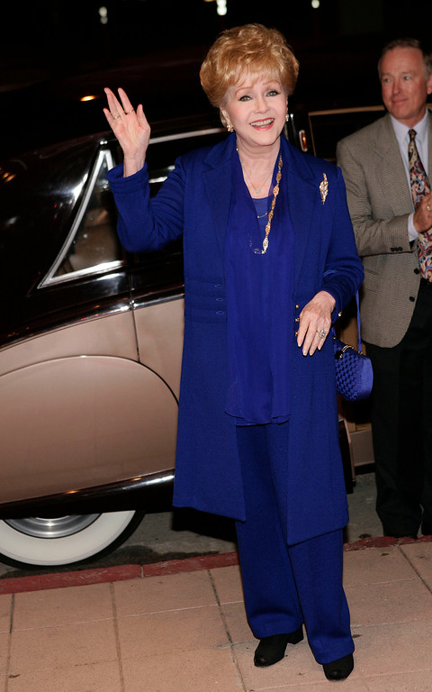 . Actress Debbie Reynolds arrives at a tribute for actress June Allyson in North Hollywood, Calif., on Thursday, Nov. 2, 2006.  Allyson passed away on July 8, 2006. (AP Photo/Matt Sayles)