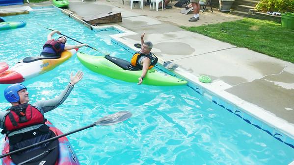 Pool practice w/ Cincypaddlers