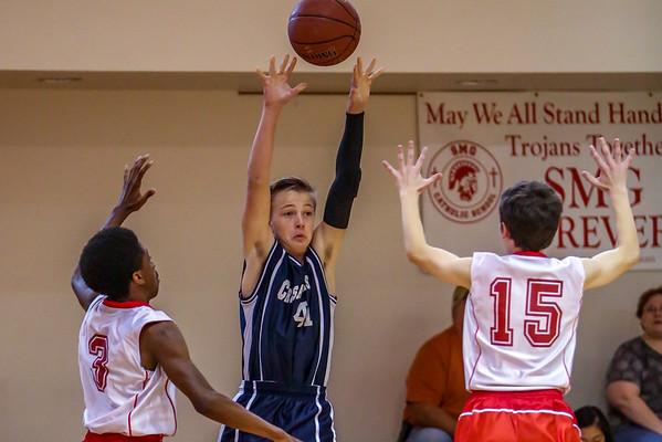 Mar 8 - Basketball - 8th Gr Gold vs SMG White
