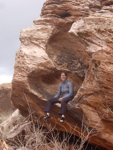 Bouldering.  Laura love downclimbing.