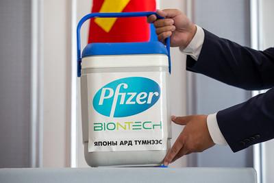 2.35 сая тун Pfizer вакциний эхний ээлжийн 84240 тун вакциныг  хүлээн авлаа