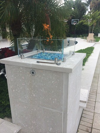 Custom fire bowls. Harbor Beach. Ft. Lauderdale, FL