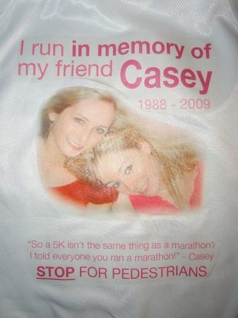 Brooke Runs the NYC Marathon in Casey's Memory - Nov. 7, 2010