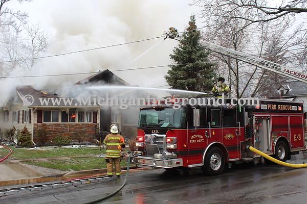4/15/18 - Jackson house fire, 119 W. Mansion