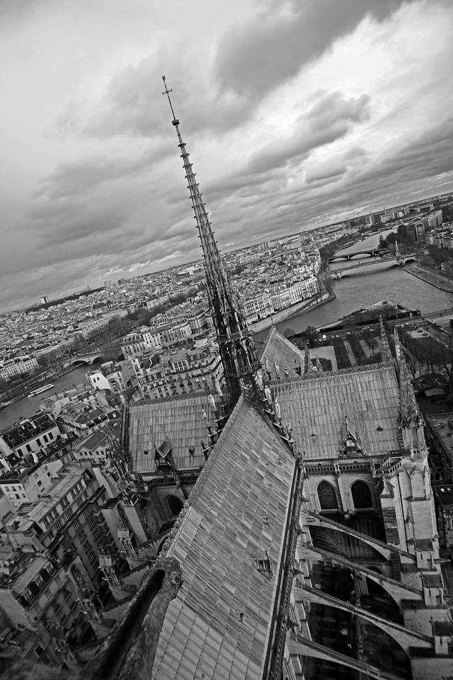 Notre Dame Cathedral - view east from the south belltower