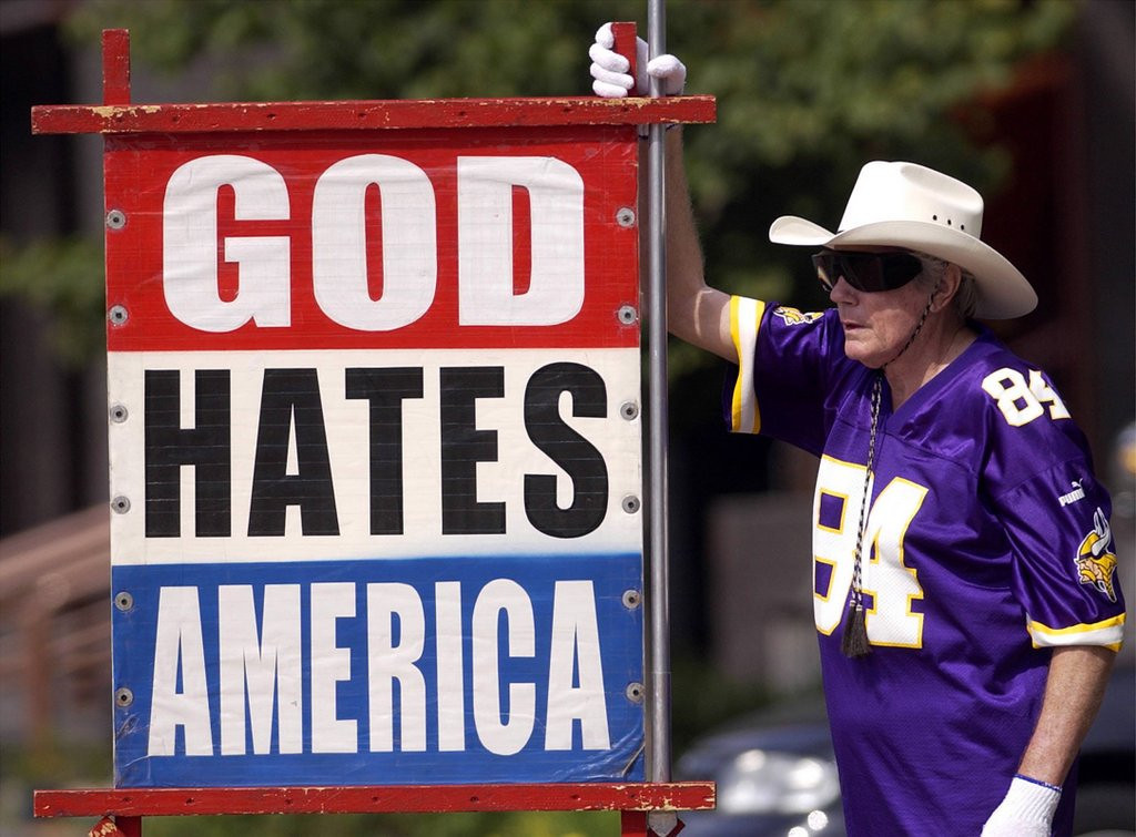 """. <p>2. FRED PHELPS <p>Would ask God who He really hates, but where�s he�s going, he won�t get that chance. (unranked) <p><b><a href=\'http://www.twincities.com/nation/ci_25384132/anti-gay-pastor-fred-phelps-sr-dies-at\' target=\""""_blank\""""> HUH?</a></b> <p>    (AP Photo/The Topeka Capital Journal)"""
