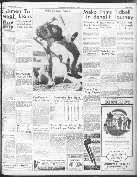 Daily Trojan, Vol. 28, No. 94, March 09, 1937