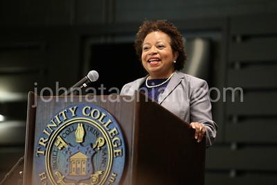 Trinity College - President Joanne Berger-Sweeny Speaking at Vernon Social