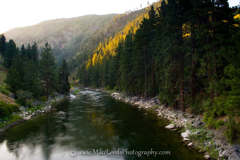 South Fork Payette River in Idaho in the morning.