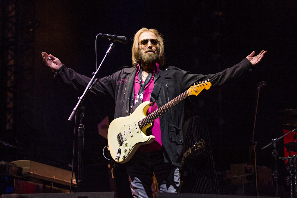 . FILE - In this Sept. 17, 2017, file photo, Tom Petty of Tom Petty and the Heartbreakers appears at KAABOO 2017 in San Diego, Calif. Petty has died at age 66. Spokeswoman Carla Sacks says Petty died Monday night, Oct. 2, 2017, at UCLA Medical Center in Los Angeles after he suffered cardiac arrest. (Photo by Amy Harris/Invision/AP, File)