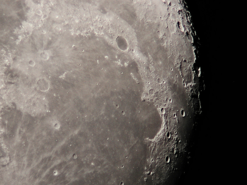 Sinus Iridum Plato Region as imaged 3-26-2010. 10 inch D&G refractor.