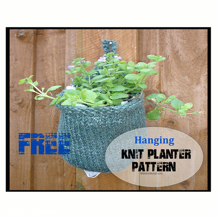Hanging Knit Planter Basket - Knitting Pattern