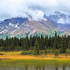 View of Alaskan Mountain Range in Denali National Park, Alaska