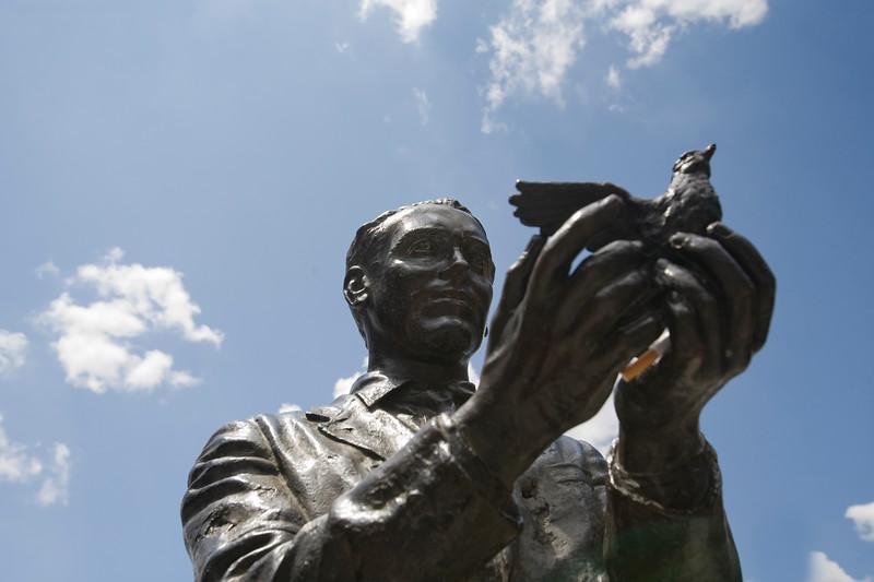 Monument to the Spanish poet Federico Garcia Lorca, Madrid, Spain