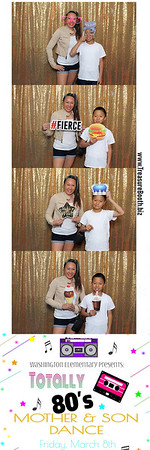 Washingtin Elementary Totally 80s  Mother Son Dance