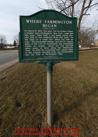 "8-21-04 Dedication of the new ""Where Farmington Began"" Historical Marker"