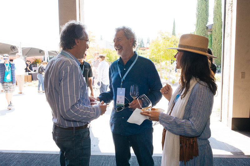 Doug Shafer chatting with attendees at the 2019 Napa Valley Barrel Auction
