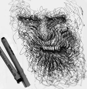 Amazing & Expressive Pen Strokes by Italian Artist Erick centeno