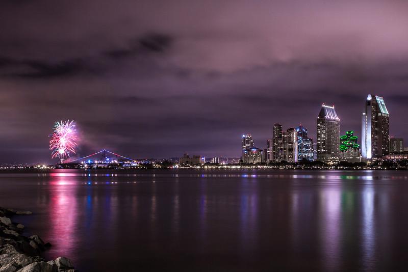 Summer fireworks in San Diego