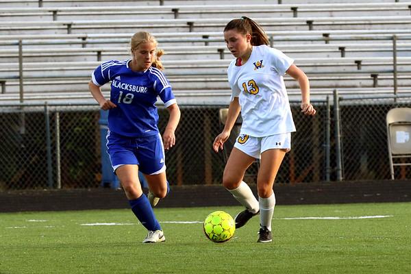 Western Albemarle girls soccer versus Blacksburg region championship 2017
