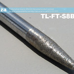 SKU: TL-FT-S8B4-20, 8mm Tapered Ball Nose (4mm) Granite Stone Router Bit with 20mm Fine Grit, Full Length ⩾60mm