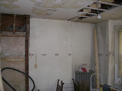 Old home: Room ceiling repair & drywall.. At 6107 Walnut st.