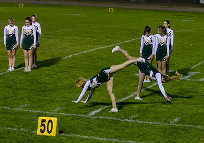 Set two: Vashon Island High School Fall Cheer halftime show at Football v Concrete 09/15/2017