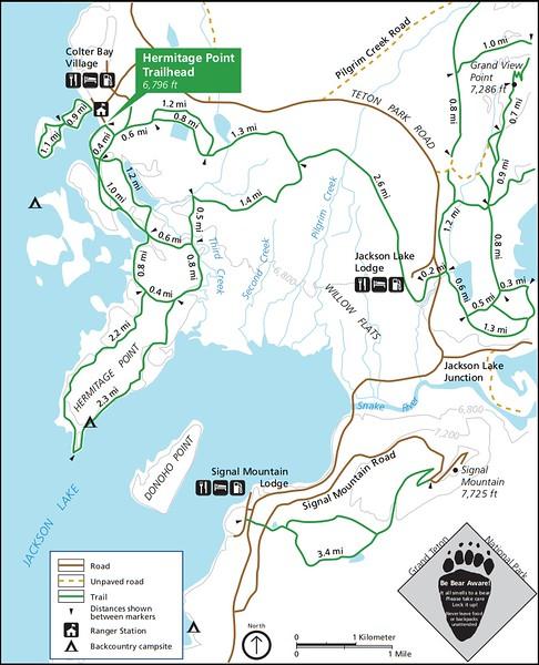 Grand Teton National Park (Hermitage Point Trailhead)