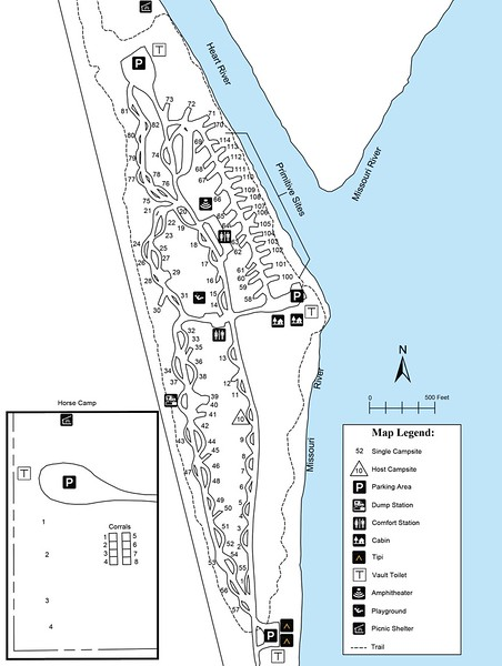 Fort Abraham Lincoln State Park (Campground Map)