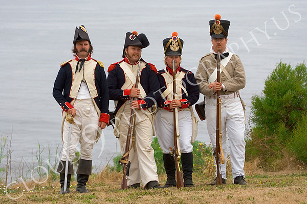 French Napoleonic Era Soldiers Historical Re-enactor Pictures