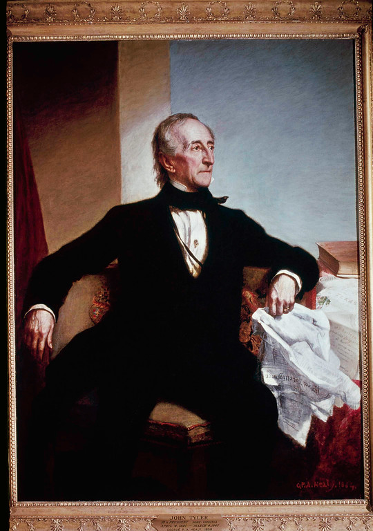 . John Tyler, seen in this painting was the 10th President of the United States from April 6, 1841 - April 3, 1945.  (AP Photo)