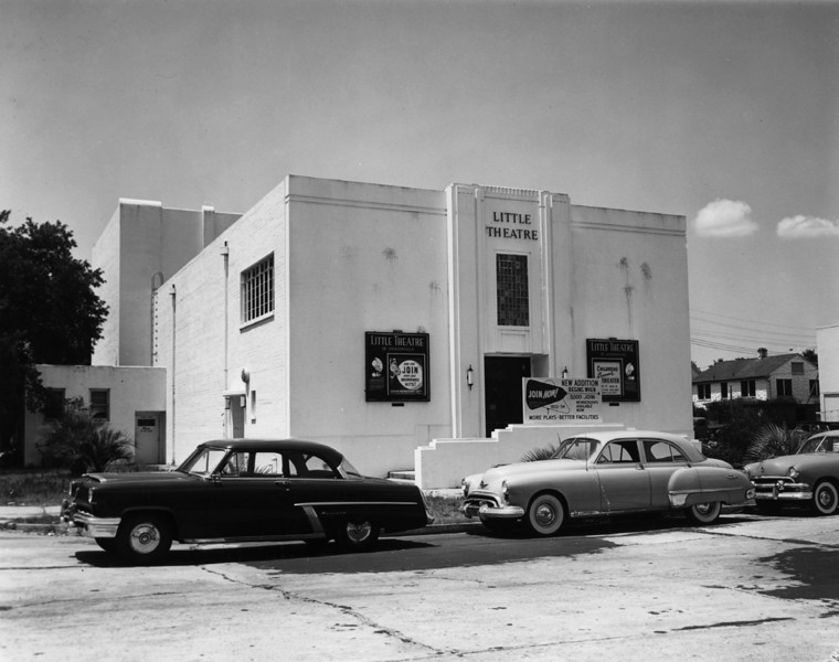 San Marco Square's Little Theatre in 1953.  It is the nation's oldest continuously operating community theatre group.