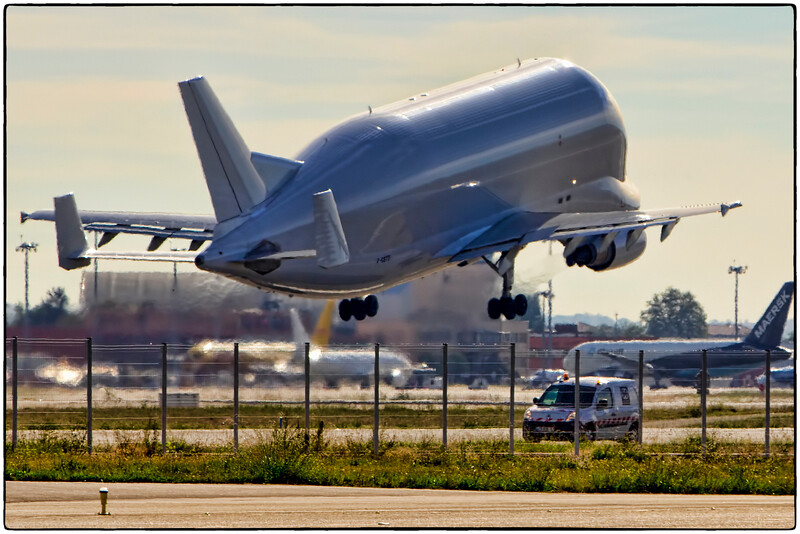 Airbus Beluga A300-600ST Departs Toulouse