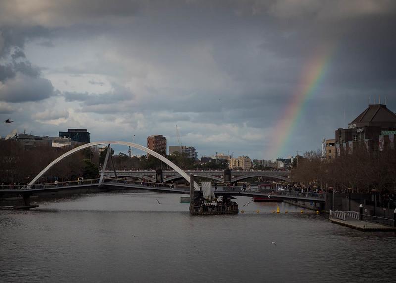 Rainbow over the Yarra