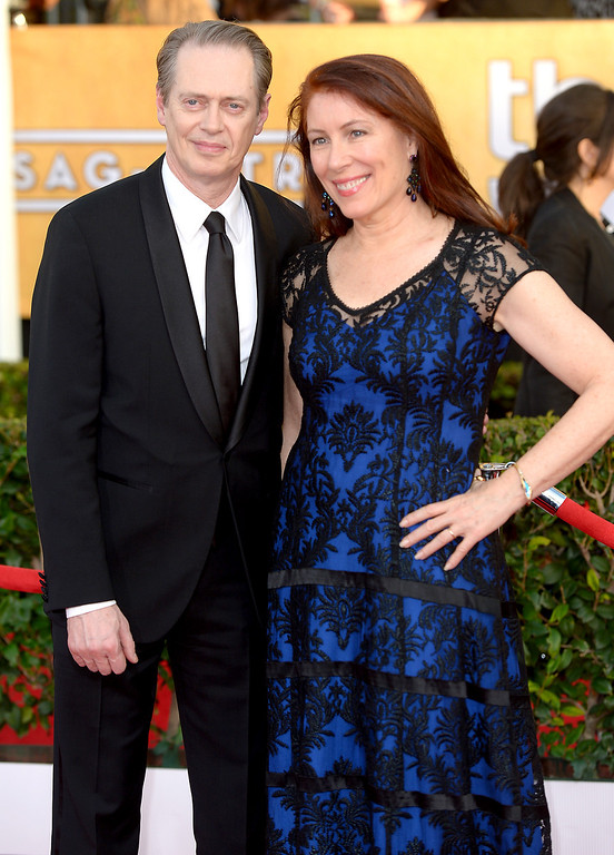 . Steve Buscemi and guest arrives at the 20th Annual Screen Actors Guild Awards  at the Shrine Auditorium in Los Angeles, California on Saturday January 18, 2014 (Photo by Michael Owen Baker / Los Angeles Daily News)