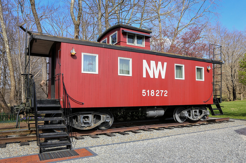 red caboose with windows