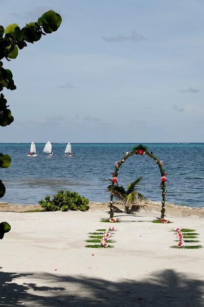 Wedding setup at Xanadu Resort.