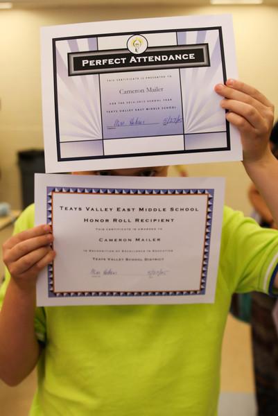 TVEMS 7th Grade Awards 2015
