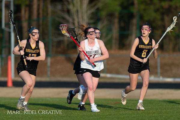 Broughton Lady Caps lacrosse at Middle Creek. February 26, 2019. D4S_1870