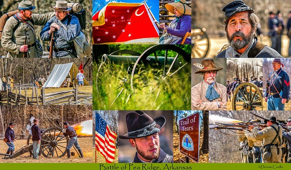 Battle of Pea Ridge -- Postcard