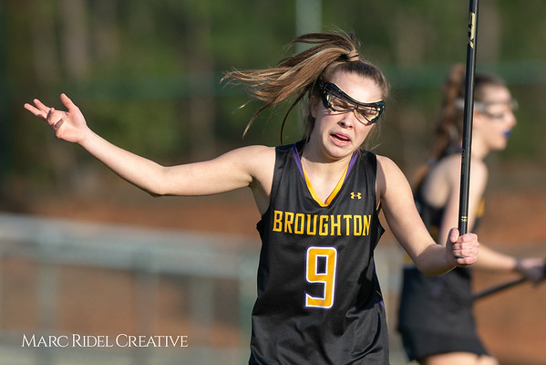 Broughton Lady Caps lacrosse at Middle Creek. February 26, 2019. D4S_1676