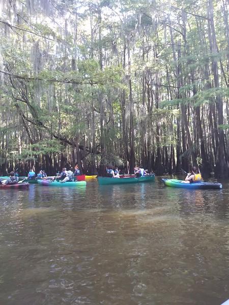 Canoeing at Caddo Lake