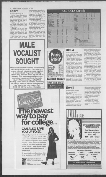 Daily Trojan, Vol. 126, No. 56, November 20, 1995