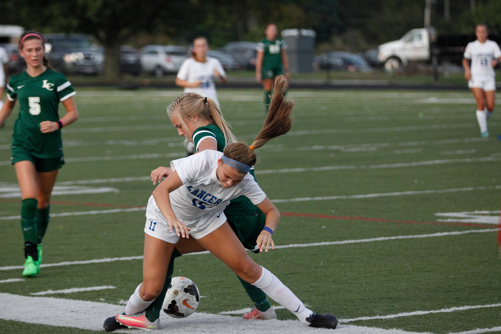 . Jenna Miller - The News-Herald Action from the Lake Catholic-Gilmour girls soccer match Sept. 25 at Gilmour.