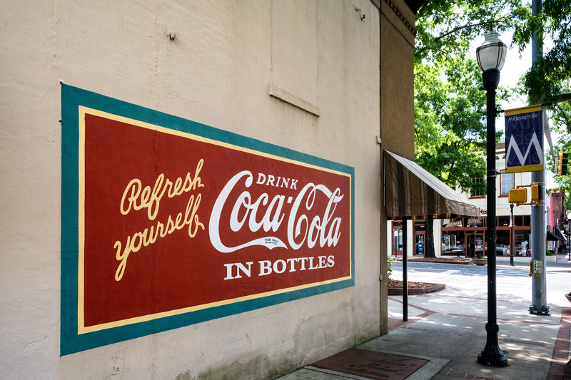 GA, Milledgeville - Coca-Cola Wall Sign 02