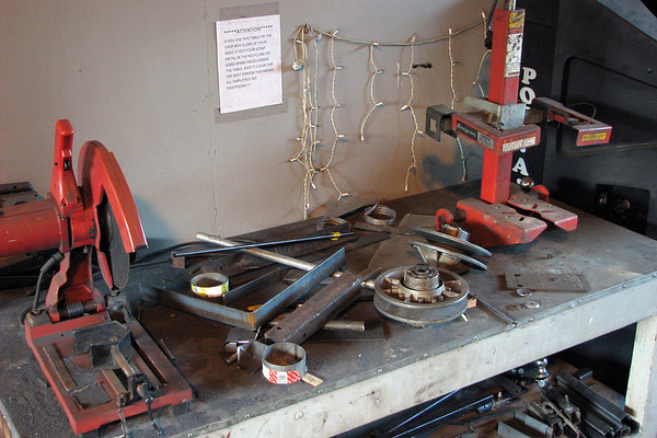 January 30:  Please keep the chop saw clean .  .  .